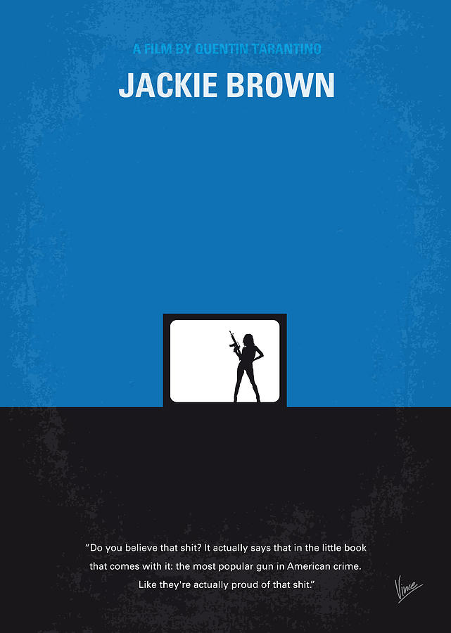 No044 My Jackie Brown Minimal Movie Poster Digital Art