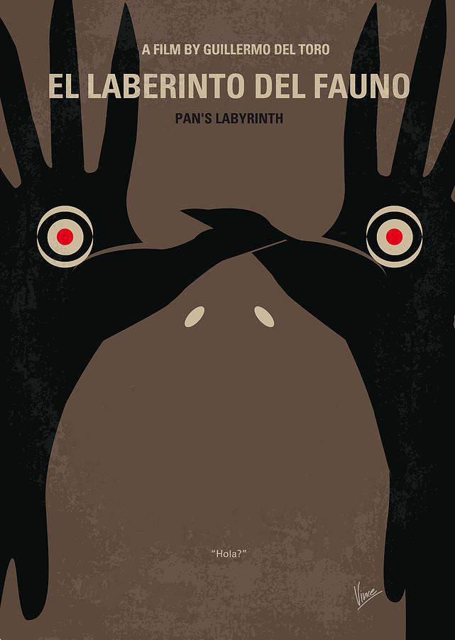 No061 My Pans Labyrinth Minimal Movie Poster Digital Art