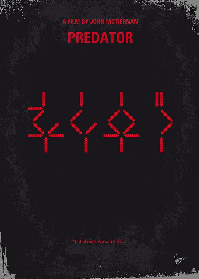 No066 My Predator Minimal Movie Poster Digital Art