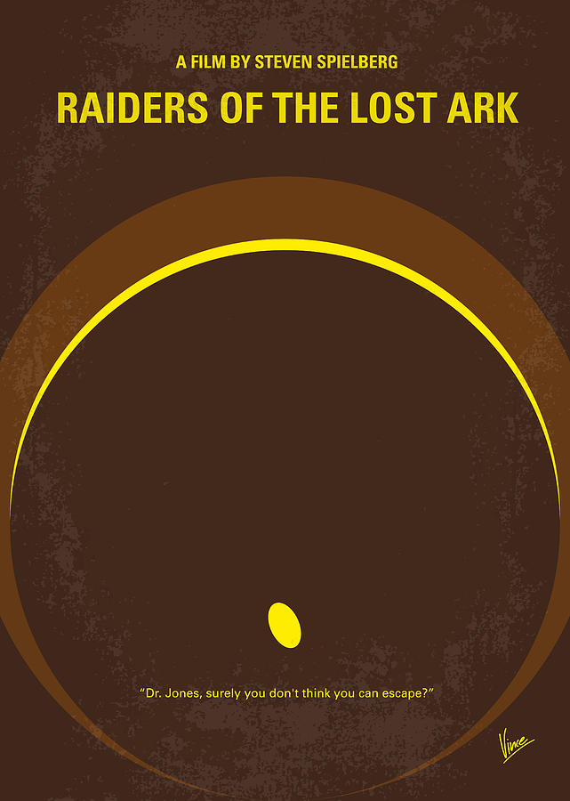 No068 My Raiders Of The Lost Ark Minimal Movie Poster Digital Art