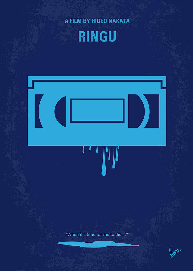 No070 My Ringu Minimal Movie Poster Digital Art  - No070 My Ringu Minimal Movie Poster Fine Art Print