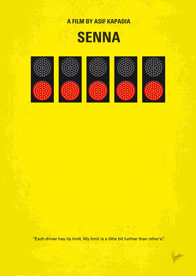 No075 My Senna Minimal Movie Poster Digital Art  - No075 My Senna Minimal Movie Poster Fine Art Print