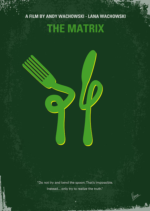 No093 My The Matrix Minimal Movie Poster Digital Art  - No093 My The Matrix Minimal Movie Poster Fine Art Print