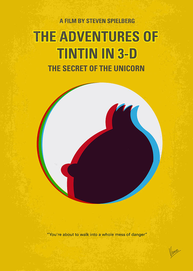 No096 My Tintin-3d Minimal Movie Poster Digital Art  - No096 My Tintin-3d Minimal Movie Poster Fine Art Print