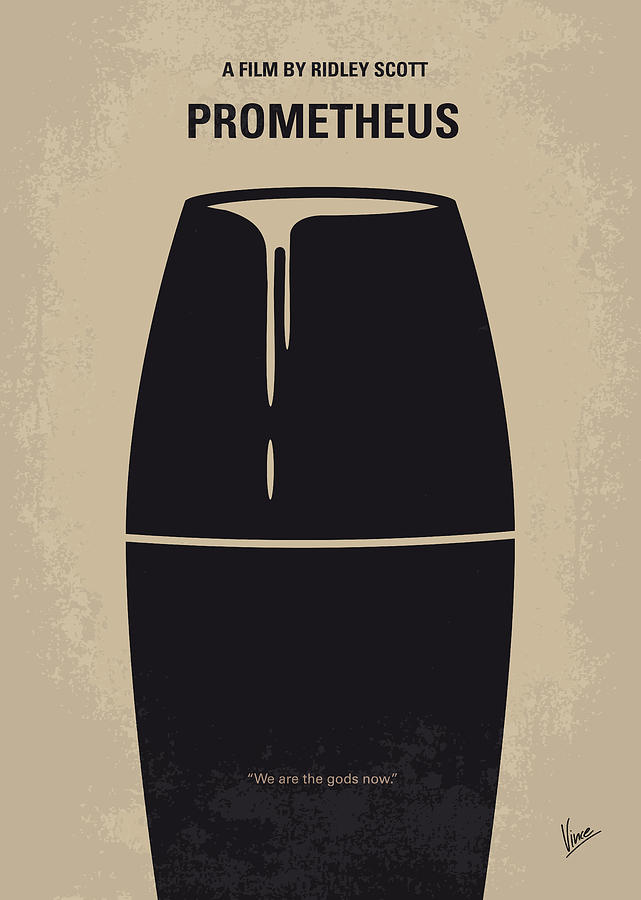 No157 My Prometheus Minimal Movie Poster Digital Art  - No157 My Prometheus Minimal Movie Poster Fine Art Print