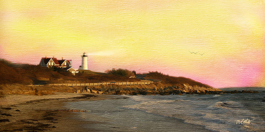 Nobska Light Mixed Media  - Nobska Light Fine Art Print
