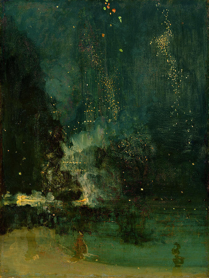 Nocturne In Black And Gold - The Falling Rocket Painting
