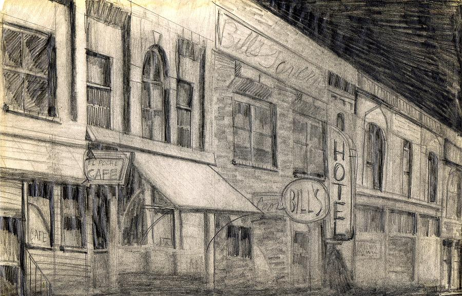 Nostalgia Drawing - Noir Street by Mel Thompson