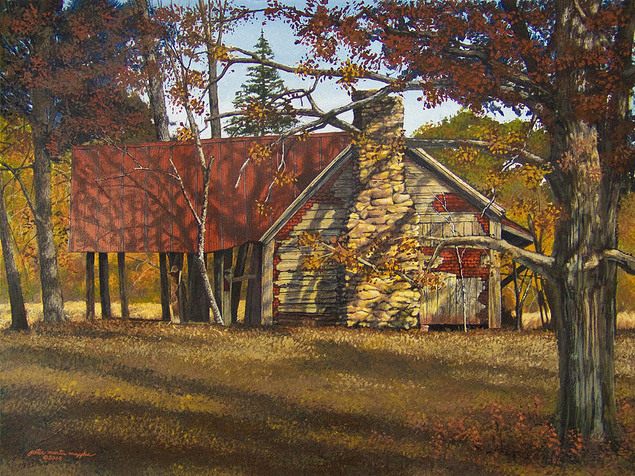 Nolan Corners Farmhouse Painting  - Nolan Corners Farmhouse Fine Art Print