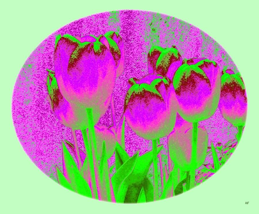 Noric House Tulips Digital Art  - Noric House Tulips Fine Art Print