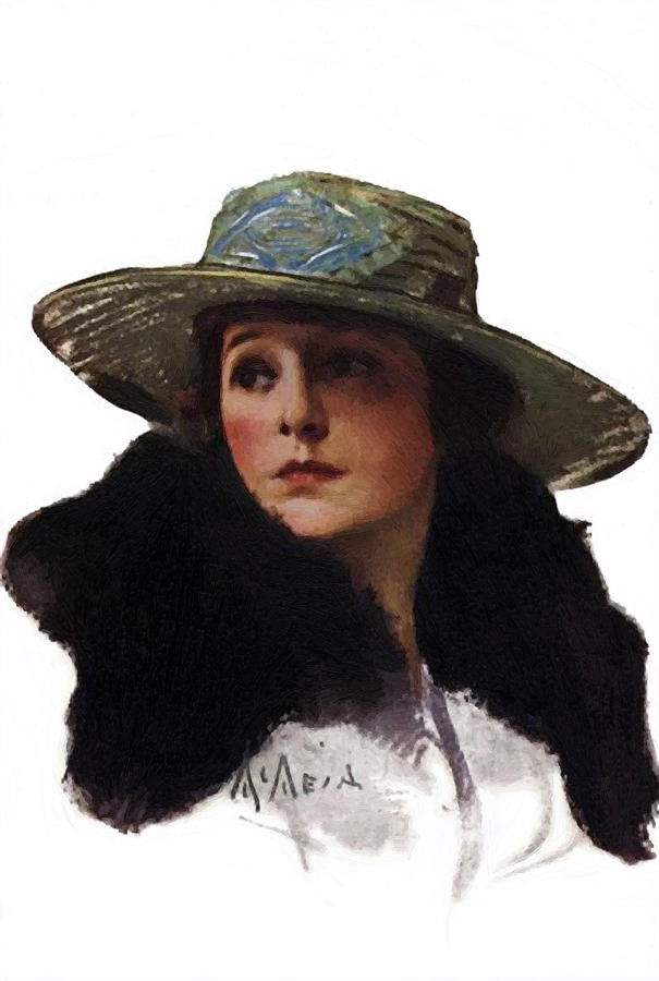 Norma Talmadge 1917 Painting