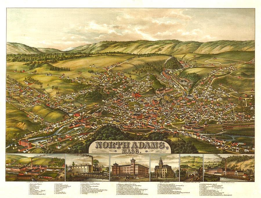 North Adams Massachusetts 1881 Digital Art