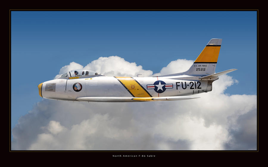North American F-86 Sabre Photograph  - North American F-86 Sabre Fine Art Print