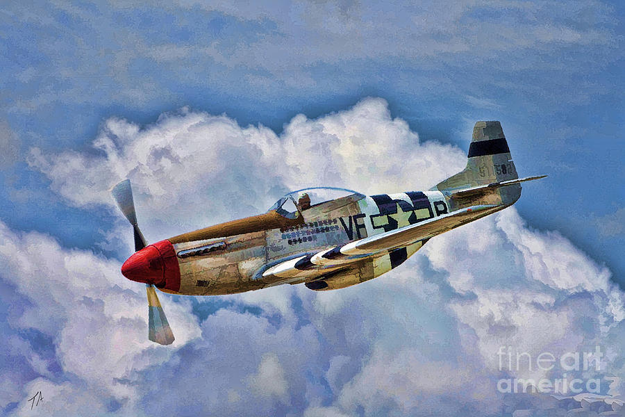 P 51 Mustang Art One of the most beauti...