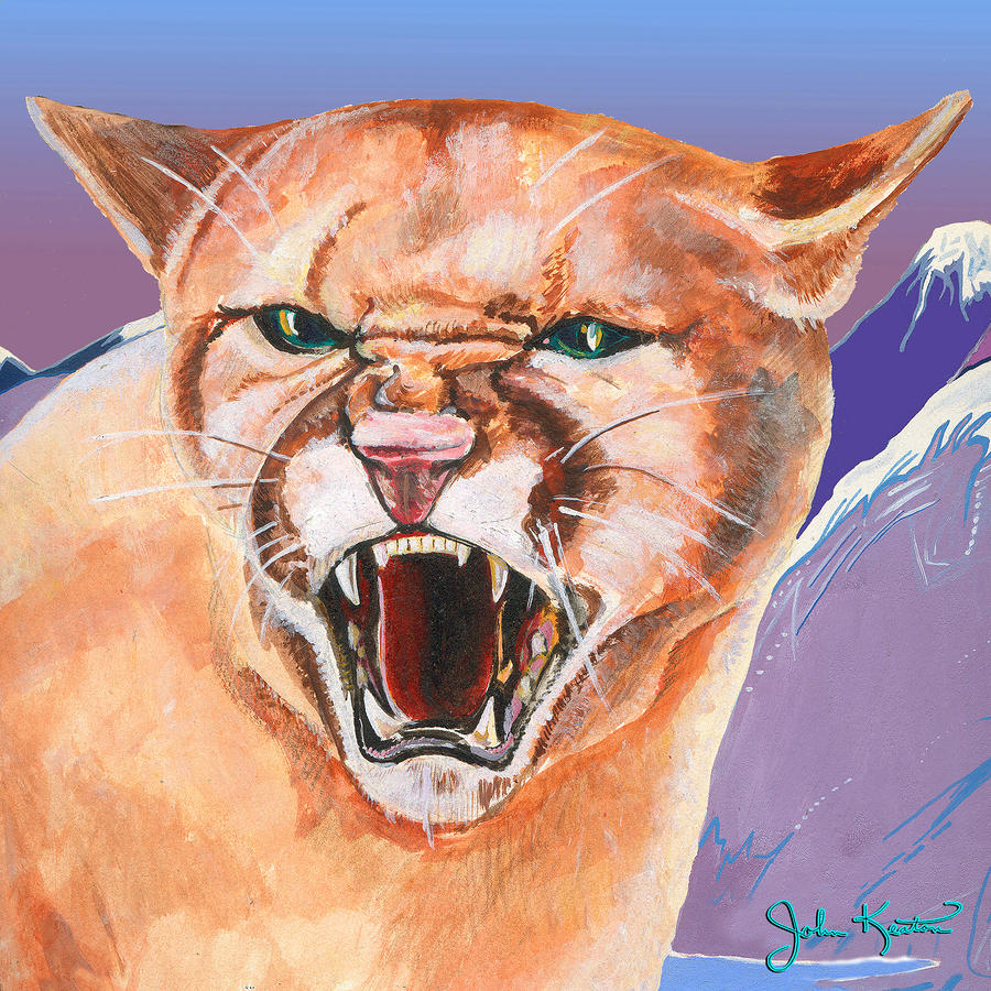North American Puma Painting
