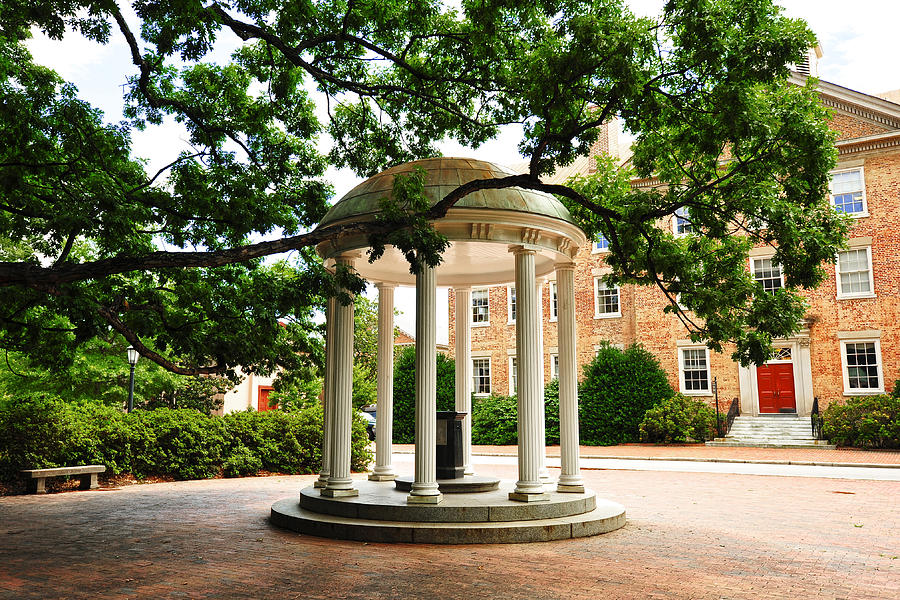 North Carolina A Students View Of The Old Well And South Building Photograph  - North Carolina A Students View Of The Old Well And South Building Fine Art Print