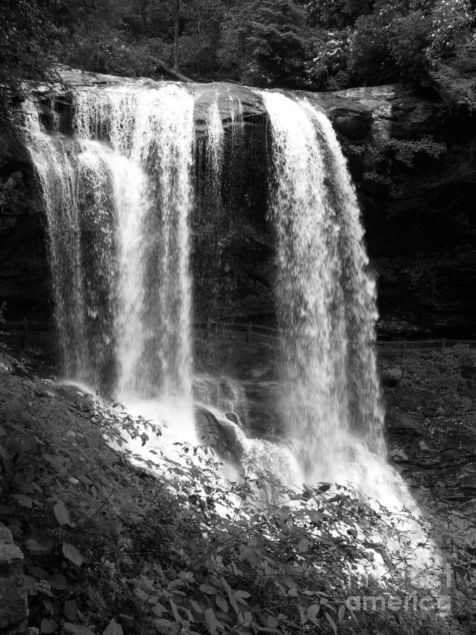 North Carolina Dark Falls Photograph  - North Carolina Dark Falls Fine Art Print