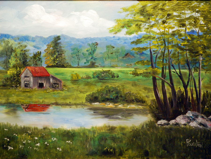 North Carolina Farm Painting