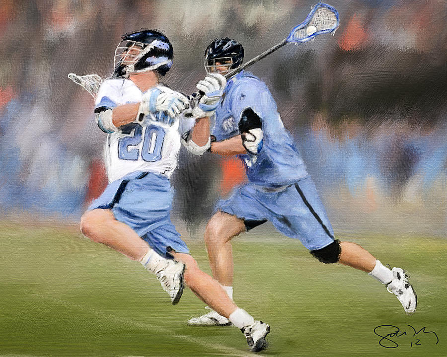 North Carolina Lacrosse 2 Painting