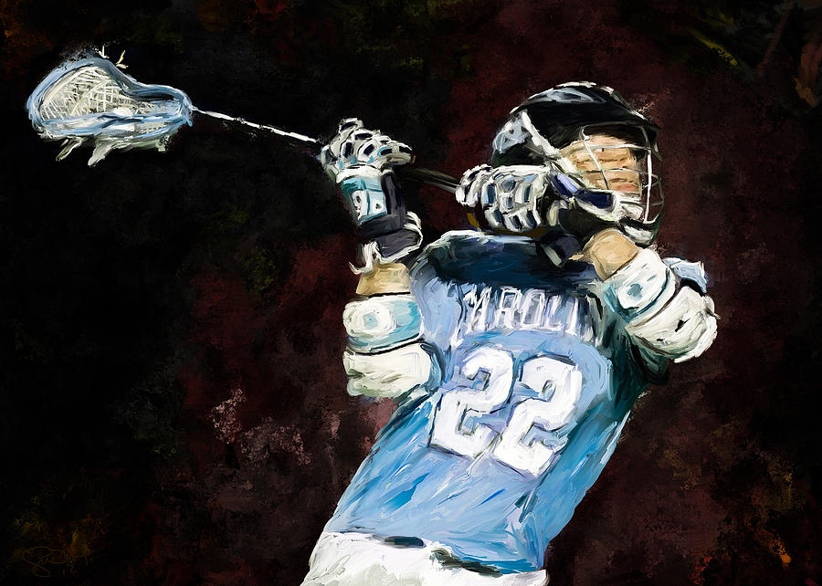North Carolina Lacrosse Painting  - North Carolina Lacrosse Fine Art Print