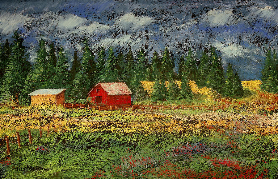North Idaho Farm Painting  - North Idaho Farm Fine Art Print