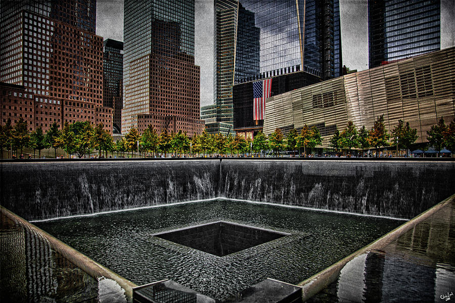 Memorial Photograph - North Tower Memorial by Chris Lord