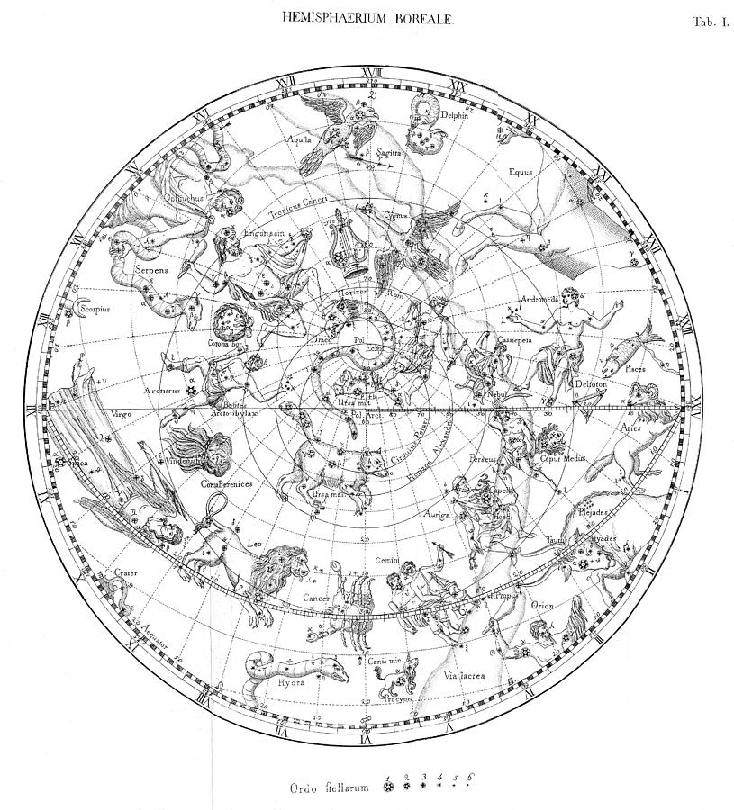 Northern Celestial Map Photograph