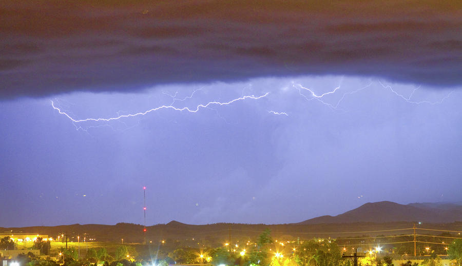Northern Colorado Rocky Mountain Front Range Lightning Storm  Photograph