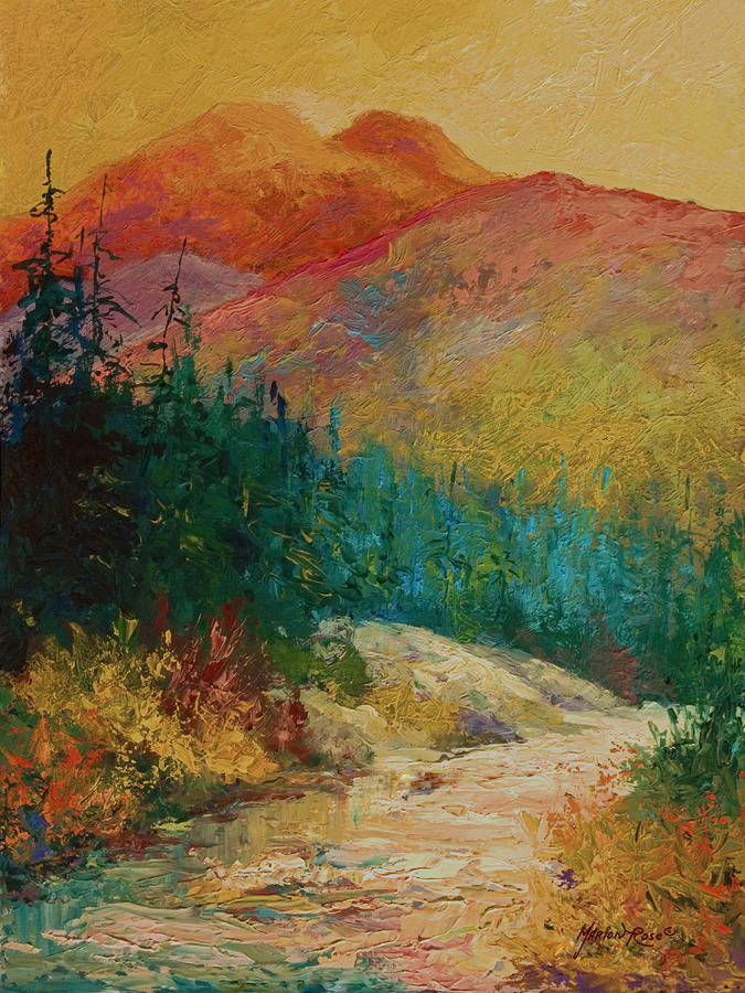 Northern Essence  Painting  - Northern Essence  Fine Art Print