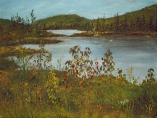 Northern Lake Painting