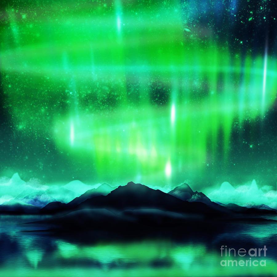 Northern Lights Aurora by Setsiri Silapasuwanchai