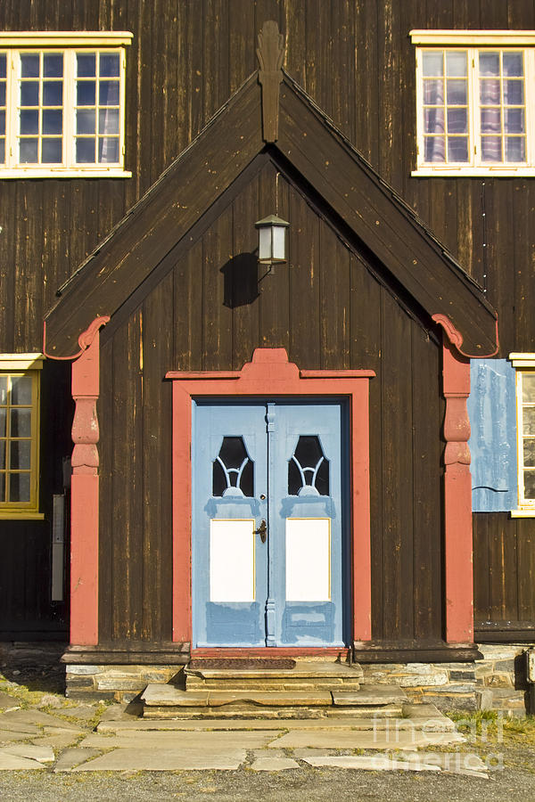 Norwegian Wooden Facade Photograph  - Norwegian Wooden Facade Fine Art Print