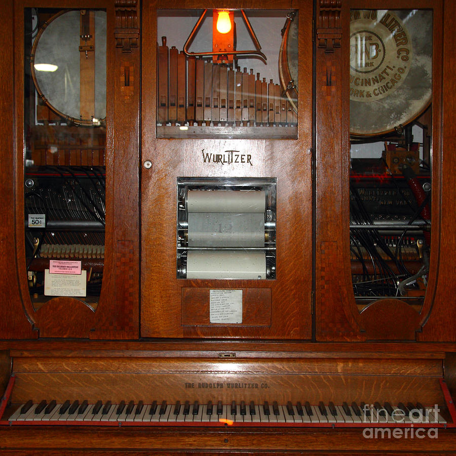 Nostalgic Wurlitzer Player Piano . 7d14400 Photograph  - Nostalgic Wurlitzer Player Piano . 7d14400 Fine Art Print