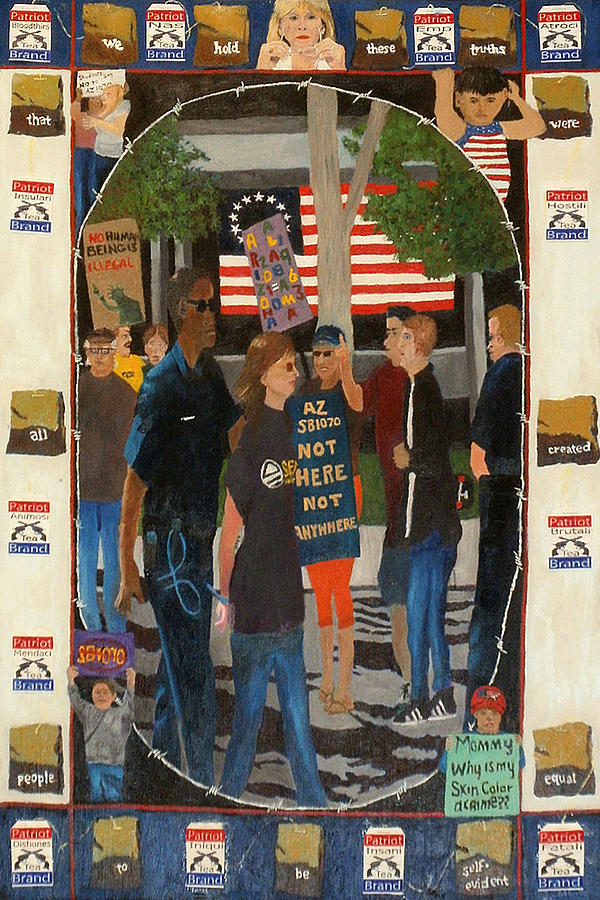 Sb 1070 Painting - Not Here Not Anywhere by Brent  Harris