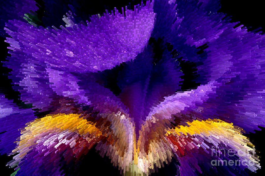 Not Your Average Iris Photograph  - Not Your Average Iris Fine Art Print