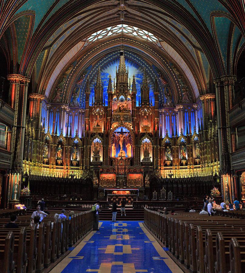 Notre Dame Basilica Montreal City Photograph