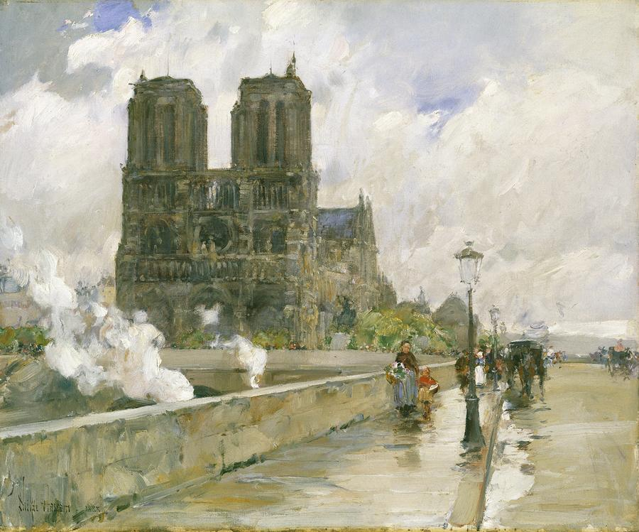 Notre Dame Cathedral - Paris Painting  - Notre Dame Cathedral - Paris Fine Art Print