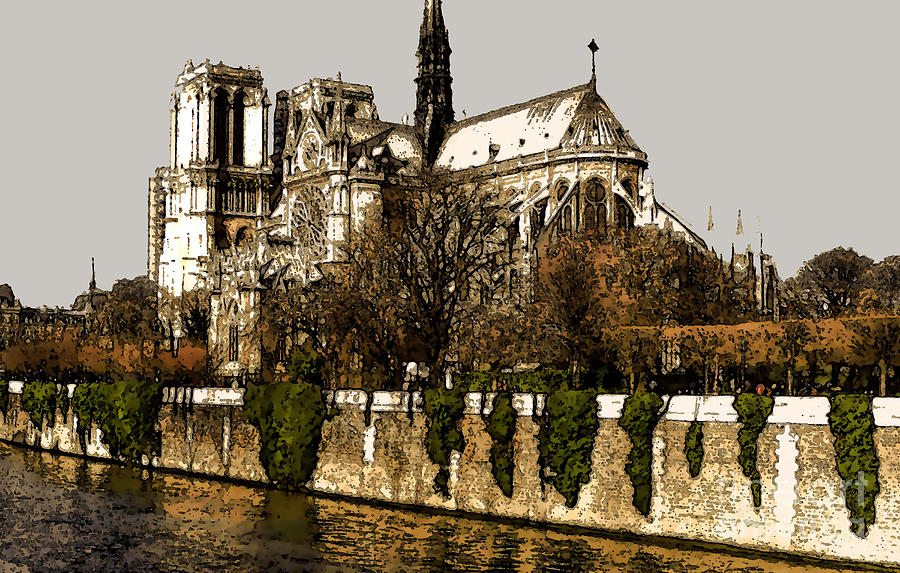Notre Dame On The Seine Photograph  - Notre Dame On The Seine Fine Art Print