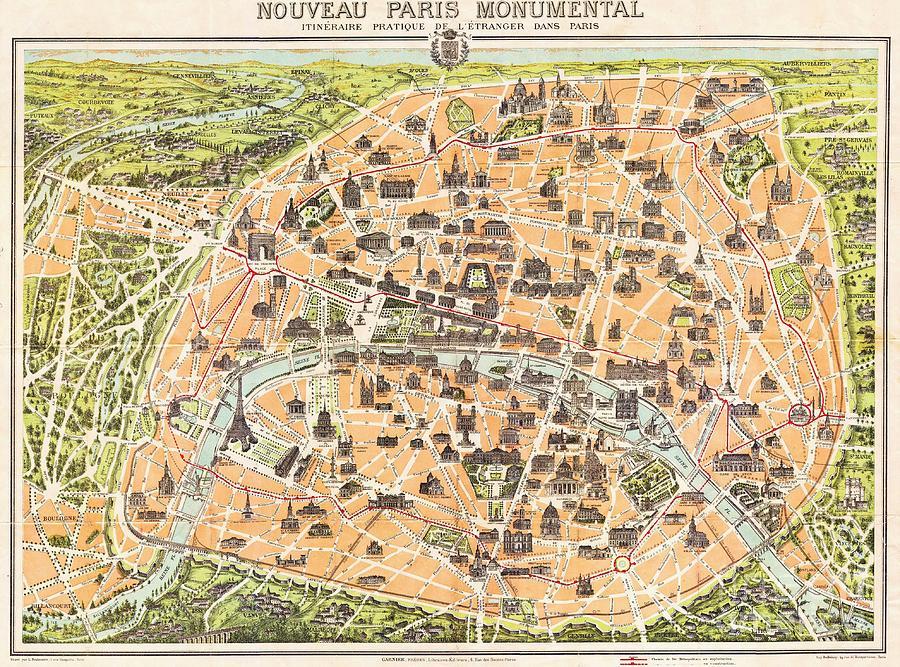 Nouveau Paris Monumental Painting