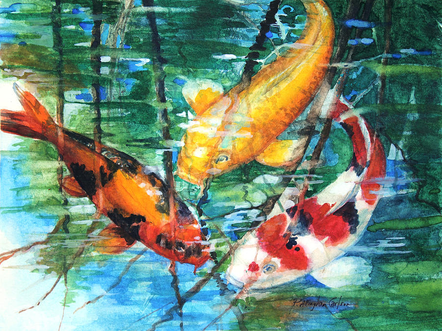 November Koi Painting  - November Koi Fine Art Print