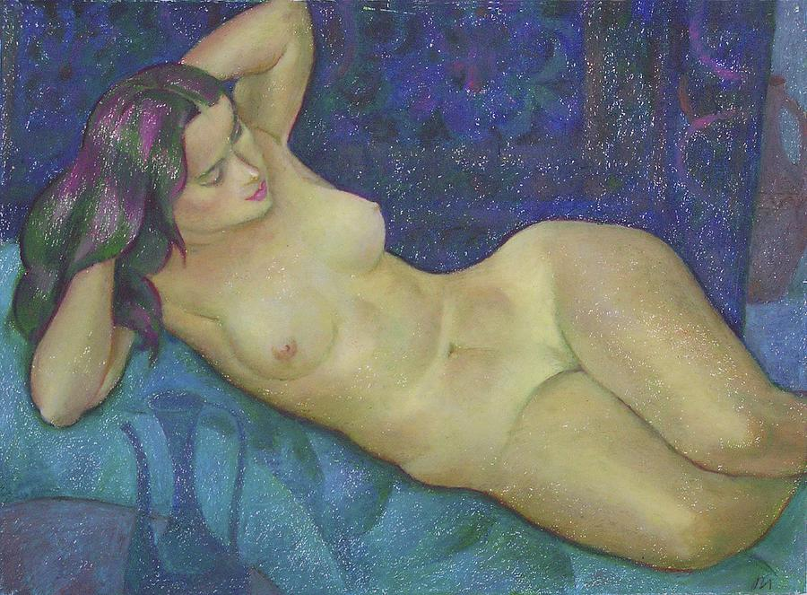 Nude Painting - Nu 15 by Leonid Petrushin