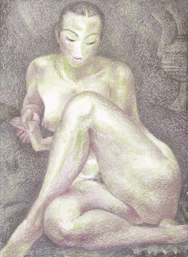 Nude Painting - Nu 36 by Leonid Petrushin