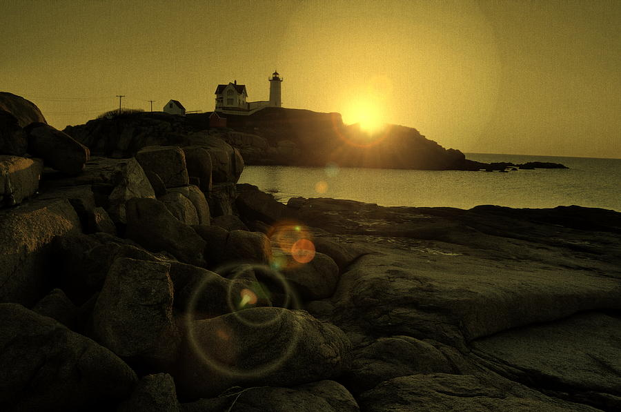 Nubble Burst Photograph  - Nubble Burst Fine Art Print