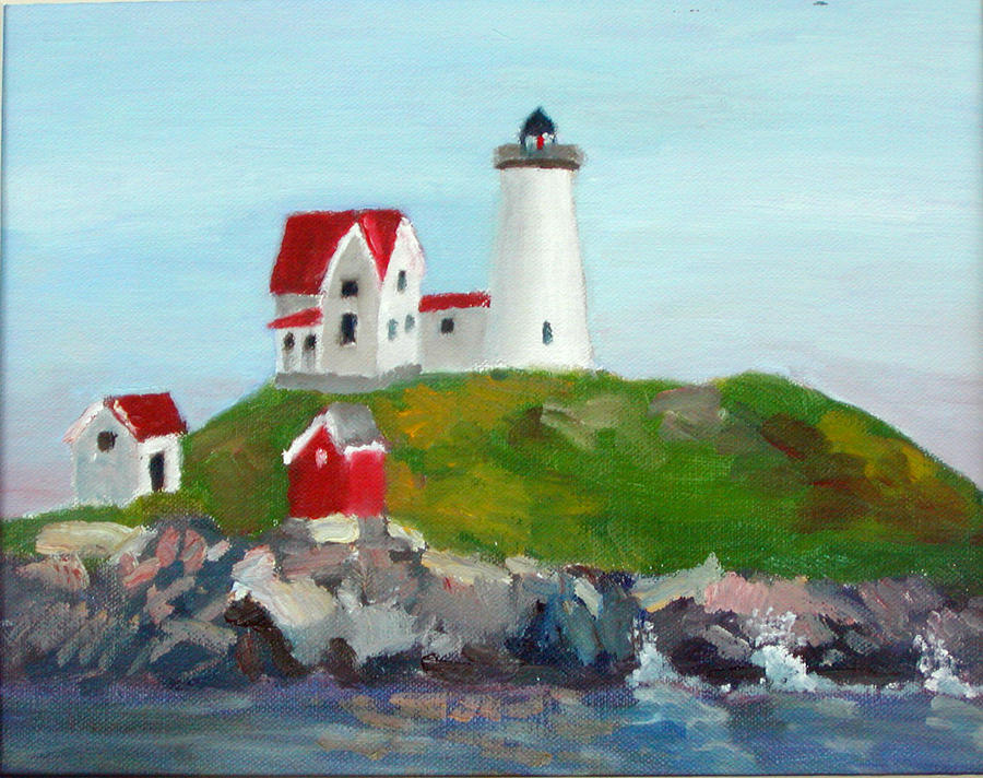 Nubble Light II Painting