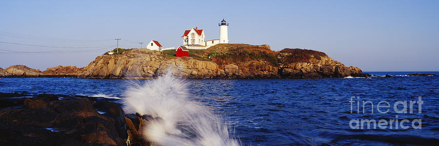 Nubble Lighthouse In Daylight Photograph