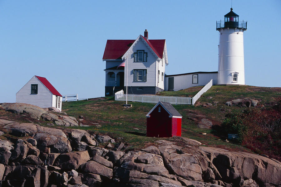 Nubble Point Lighthouse Photograph  - Nubble Point Lighthouse Fine Art Print