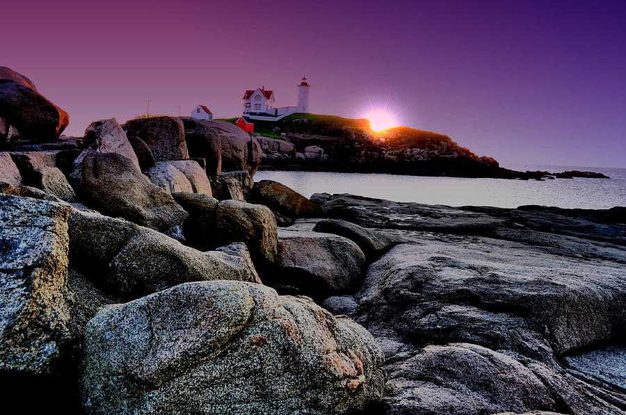 Nubble Rocks Photograph