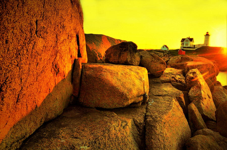Nubble Yellow Photograph  - Nubble Yellow Fine Art Print
