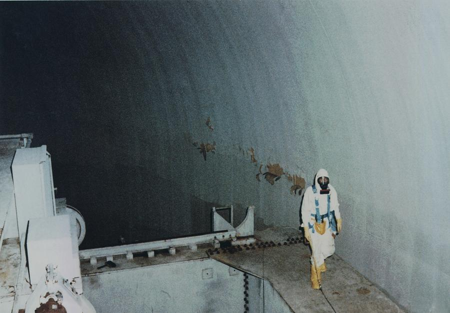 Nuclear Engineer Inside Unit 2 Photograph