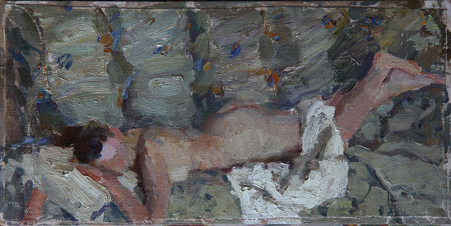 Nude In Silver Painting